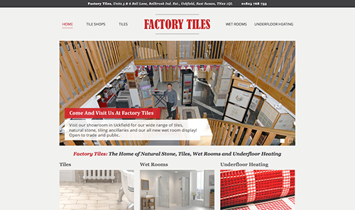 Factory Tiles Website