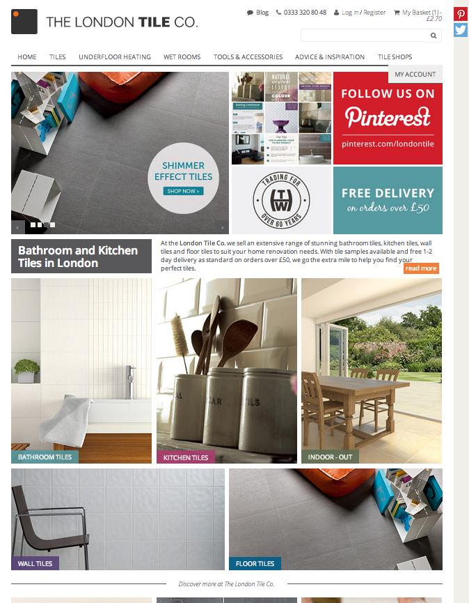 The new London Tile website | htw.co.uk/blog