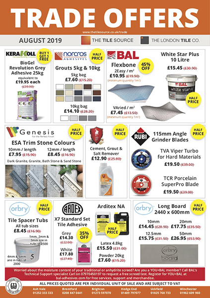 The Tile Source Trade Offers August 2019