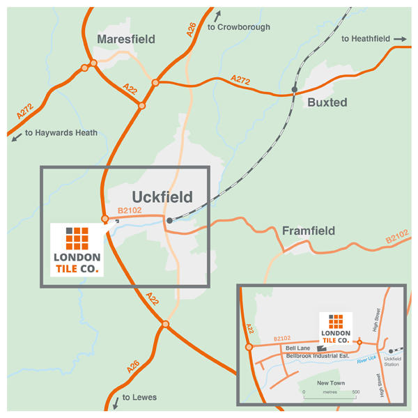 The London Tile Co Uckfield Directions