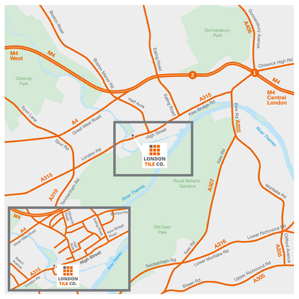 The London Tile Co Brentford Directions